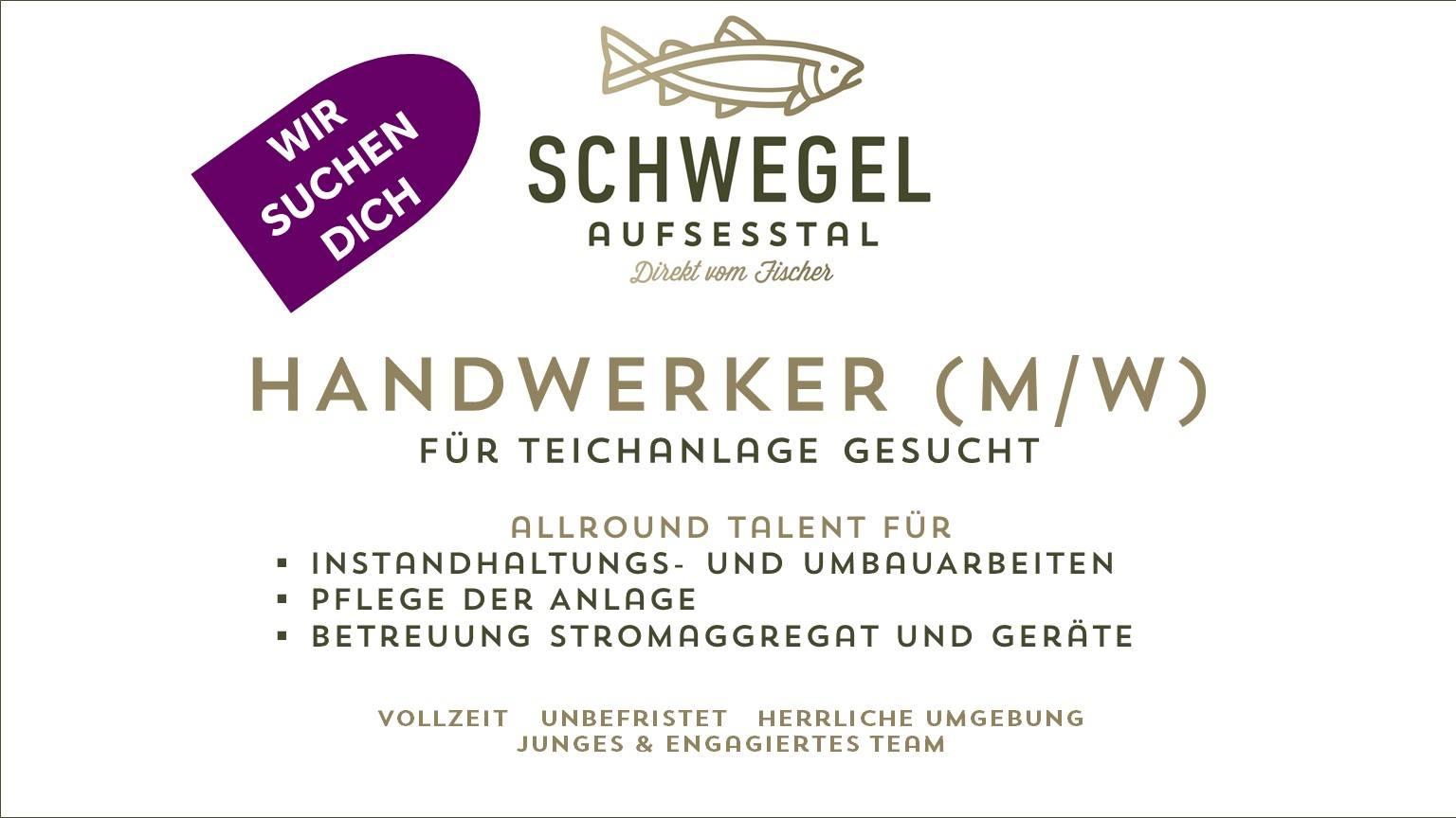 HANDWERKER (M/W) für TEICHANLAGE GESUCHT