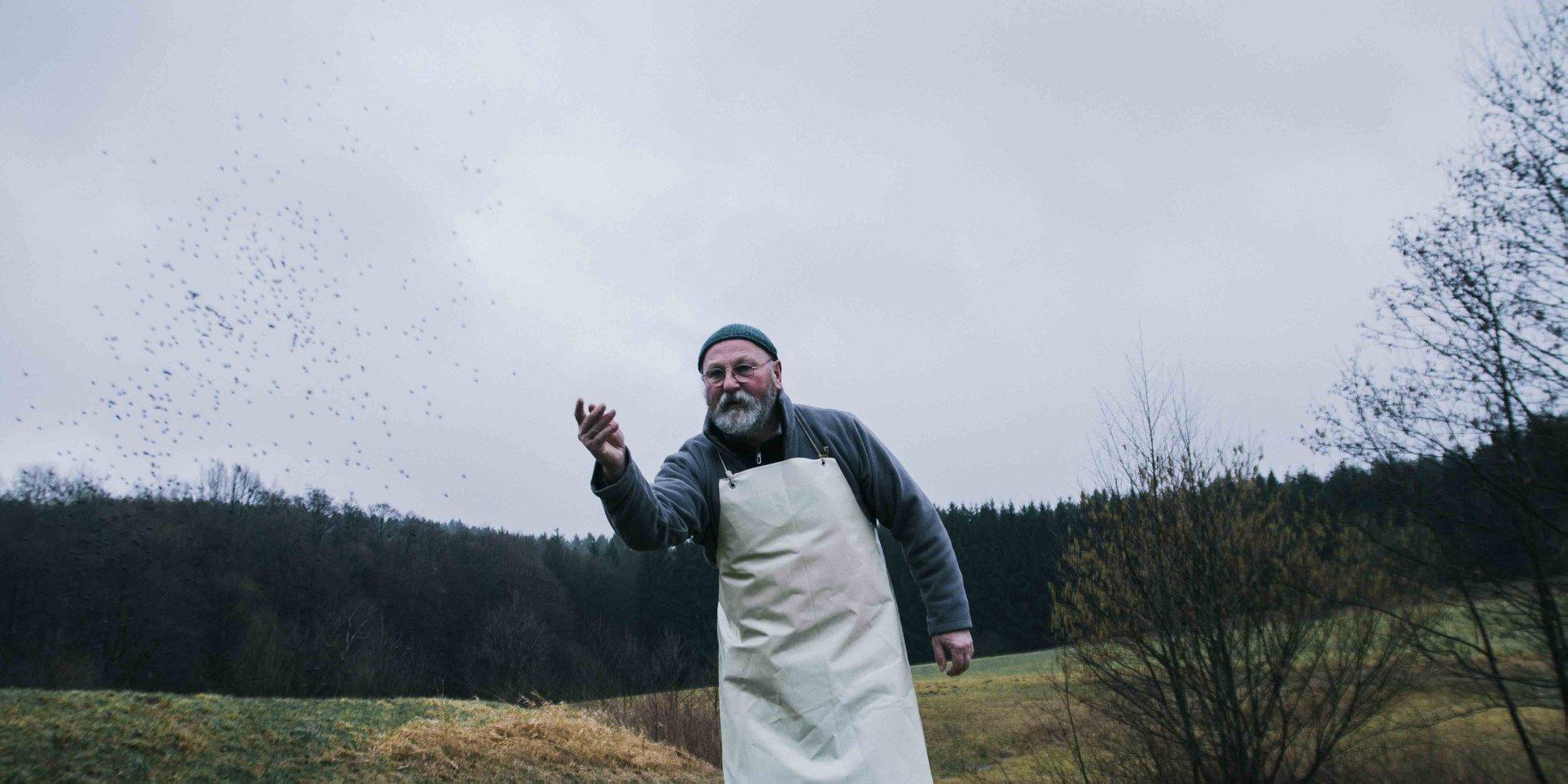 Herbst 2017 Karpfen füttern